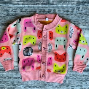 Other - Toddler girl pink fleece sweater